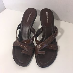 Etienne Aigner Women's Dia Brown Leather Strappy
